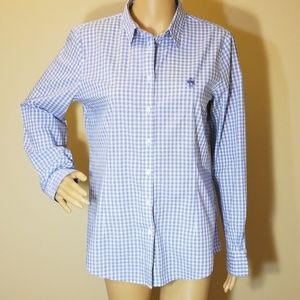 Brooks Brothers Blue & White Button Up Shirt Sz 10